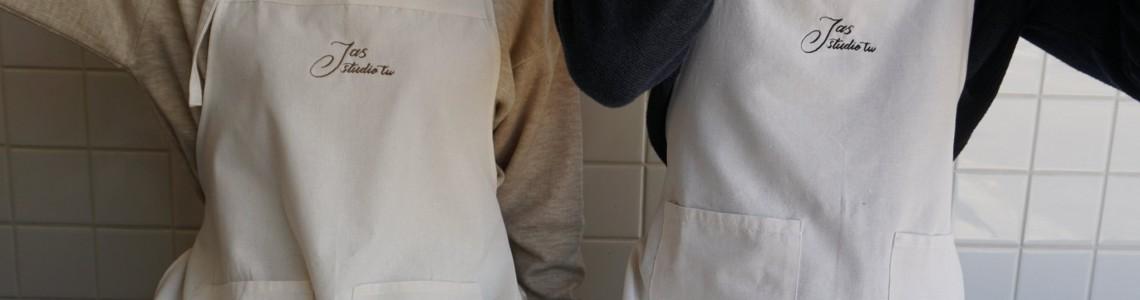 日系棉麻帆布圍裙