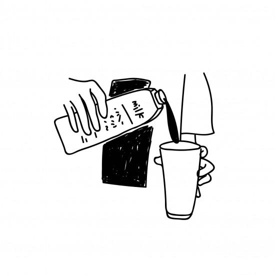 日牌  短袖印圖T  ㄏ milk