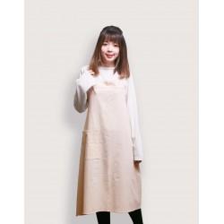 水洗棉日式棉綁繩圍裙  | 六色