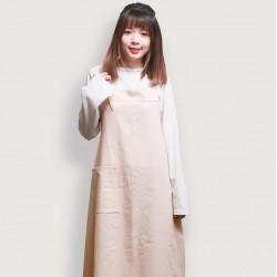 水洗棉日式棉綁繩圍裙   六色