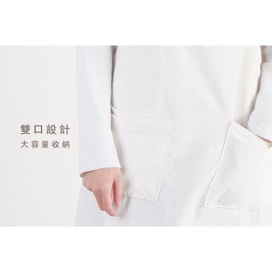 麻帆布兩口袋  繞頸式  L