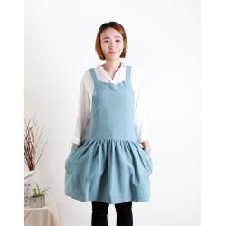 水洗棉麻背心式款圍裙│ 五色