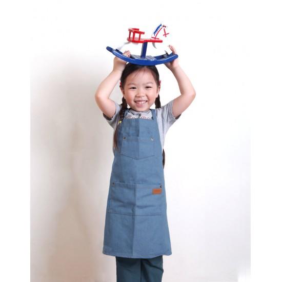 兒童款 全棉牛仔圍裙 三色