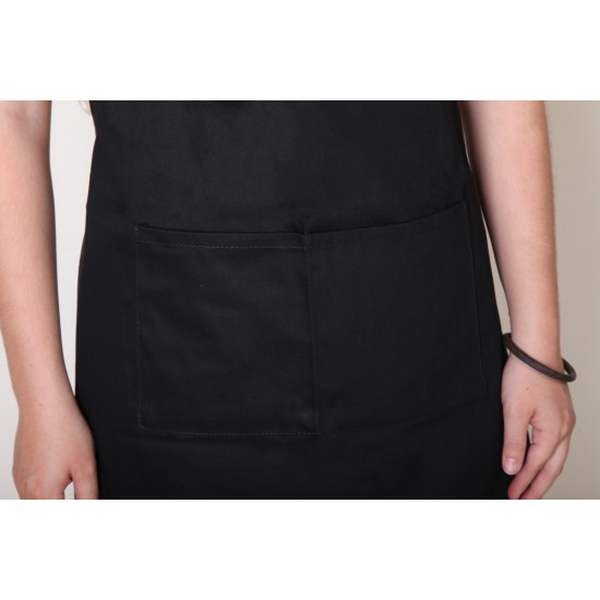 純棉三口袋  背帶式 黑色
