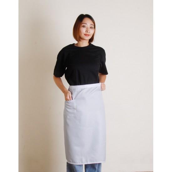 滌綸半身圍裙 單口袋  六色