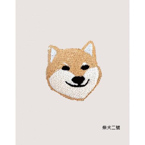 刺繡  柴犬三兄弟